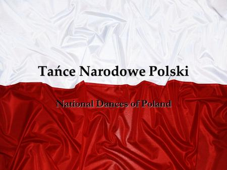 National Dances of Poland