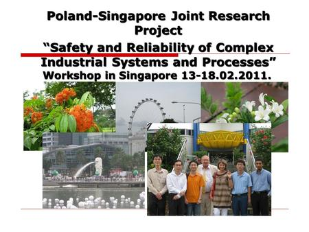 Poland-Singapore Joint Research Project
