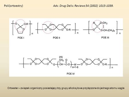 Poli(ortoestry) Adv. Drug Deliv. Reviews 54 (2002)