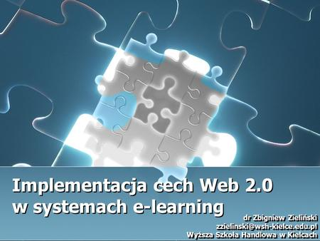 Implementacja cech Web 2.0 w systemach e-learning