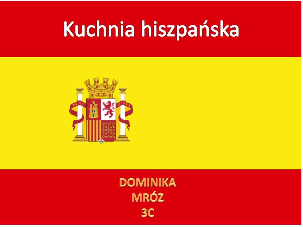 Kuchnia Hiszpanska Dominika Mroz 3c Ppt Pobierz