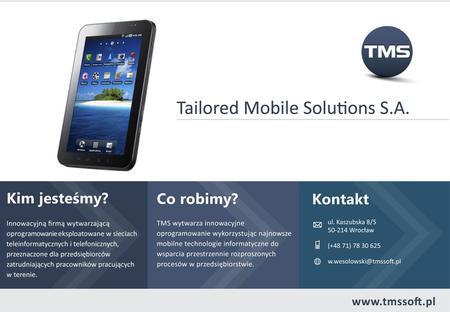 Agenda 1 Tailored Mobile Solutions S.A 2 Aplikacja TMS Finance 3