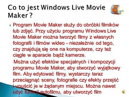 Co to jest Windows Live Movie Maker ?