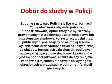 Podanie Praca W Policji