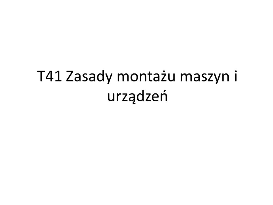 zasada montażu)