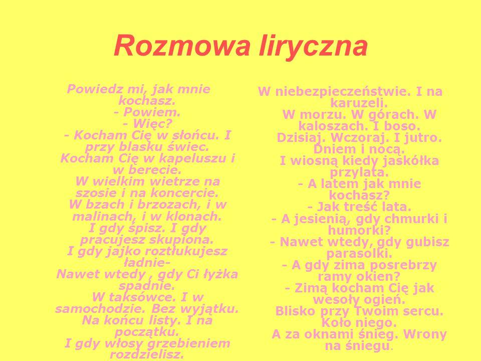 Różne Oblicza Miłości W Wierszach Polskich Poetów Ppt Pobierz