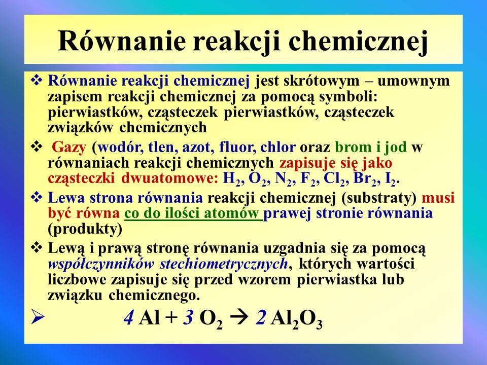 Jak zapisać przebieg reakcji chemicznej? - ppt video online pobierz