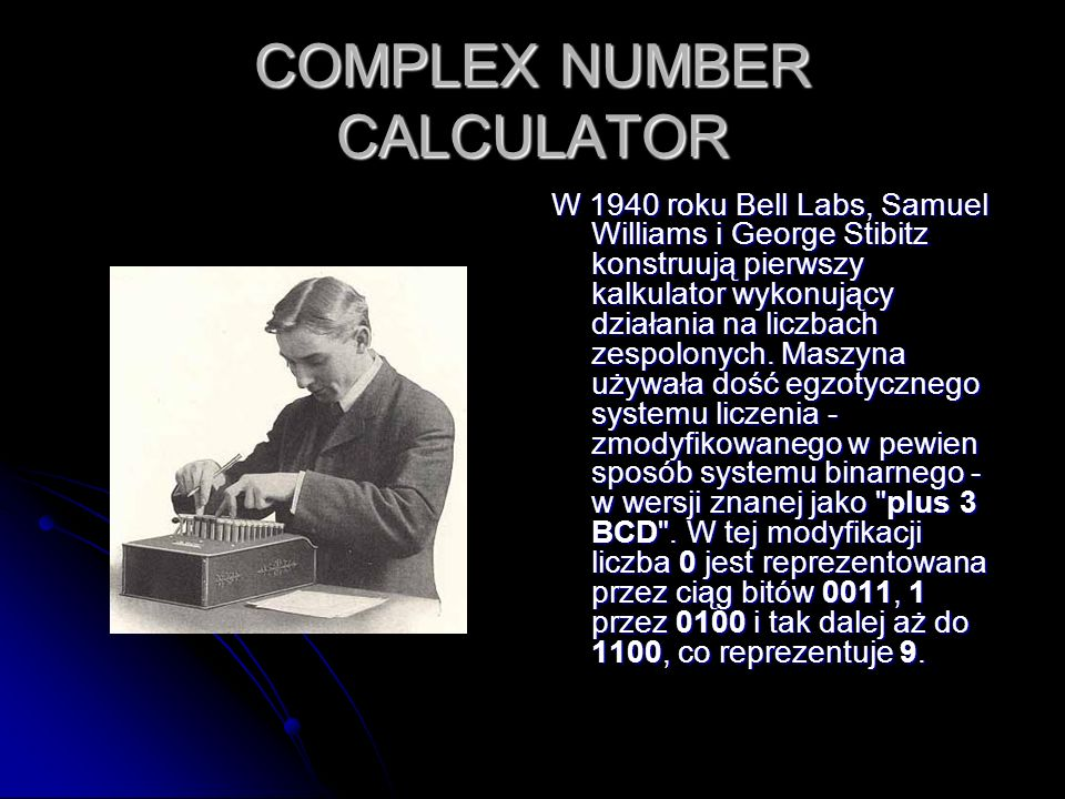 COMPLEX NUMBER CALCULATOR