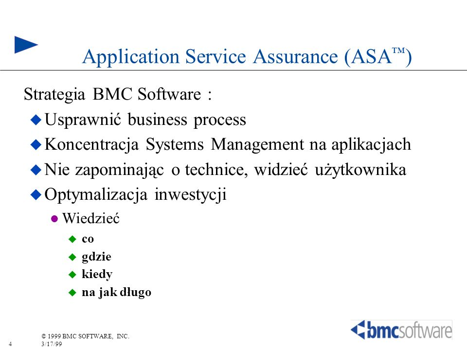 Application Service Assurance (ASA™)