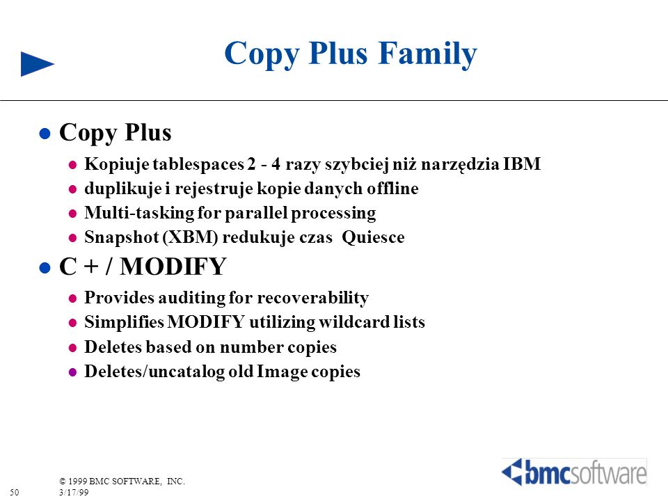 Copy Plus Family Copy Plus C + / MODIFY