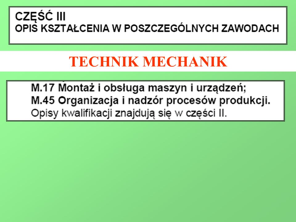 TECHNIK MECHANIK