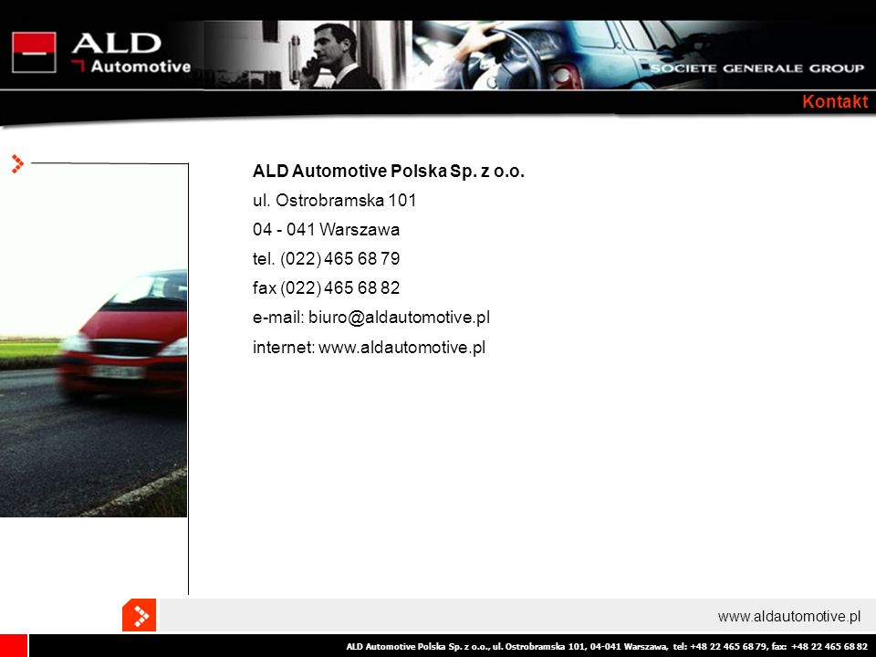 ALD Automotive Polska Sp. z o.o. ul. Ostrobramska 101