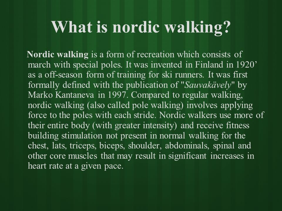 What is nordic walking
