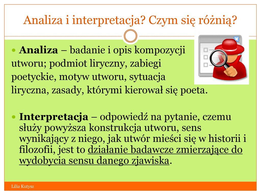 Analiza I Interpretacja Wiersza Ppt Video Online Pobierz