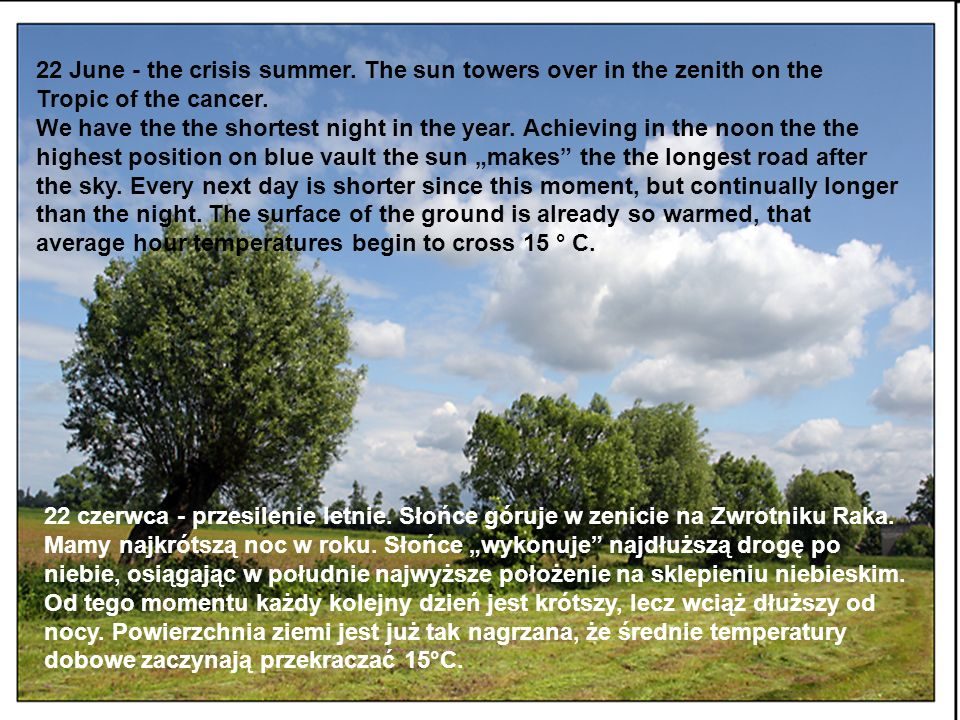 22 June - the crisis summer