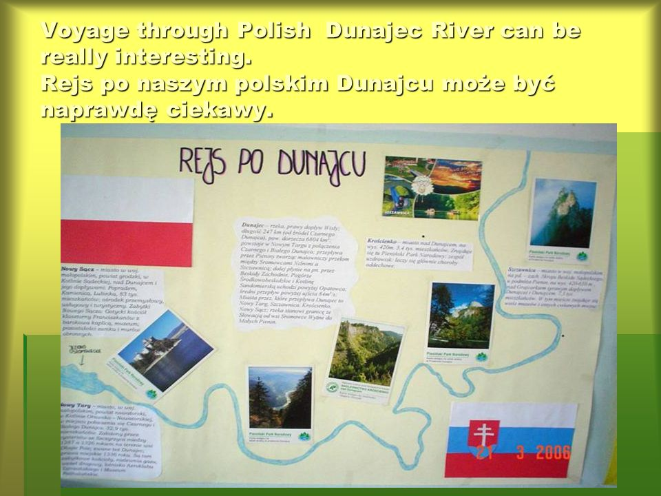 Voyage through Polish Dunajec River can be really interesting