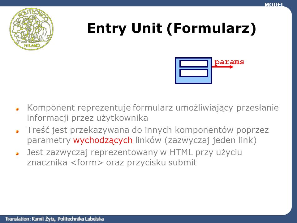 Entry Unit (Formularz)