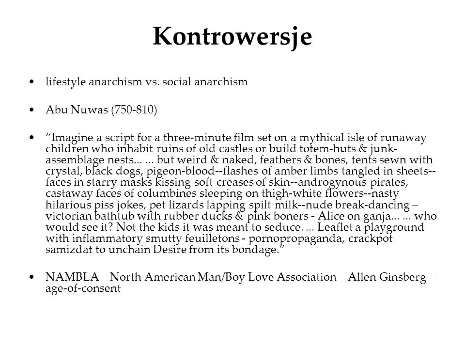 Kontrowersje lifestyle anarchism vs. social anarchism