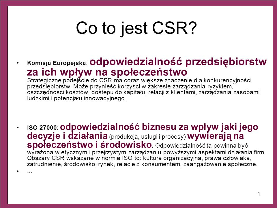 Co to jest CSR