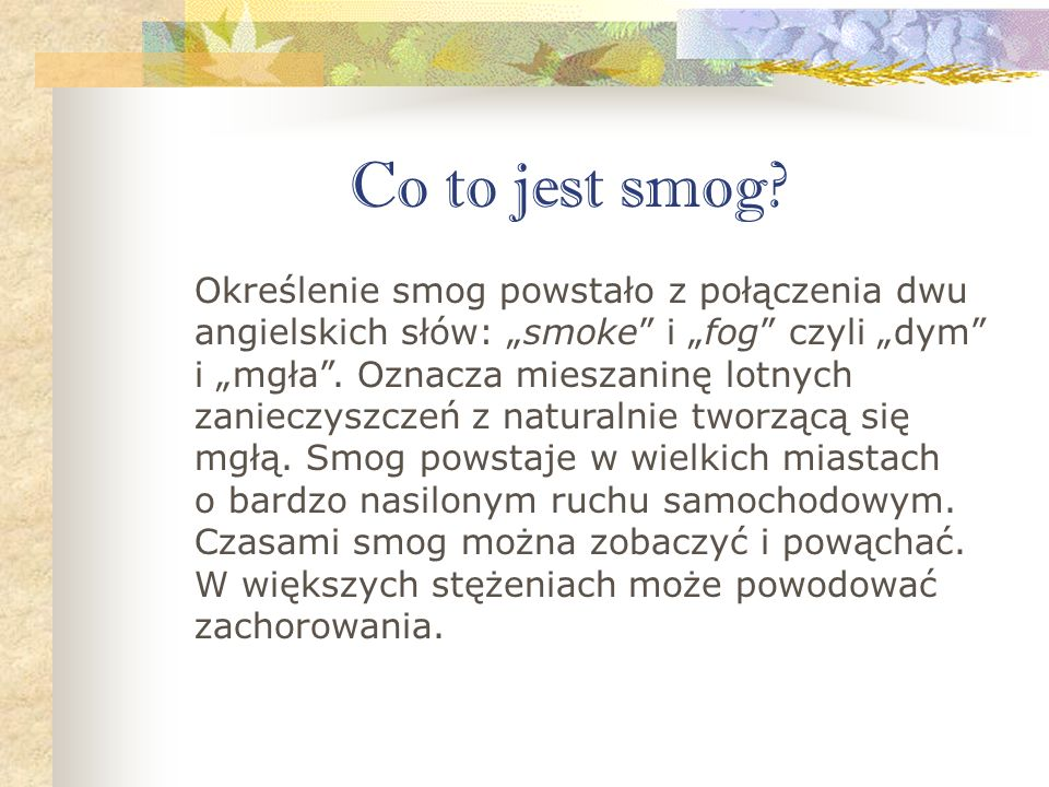Co to jest smog