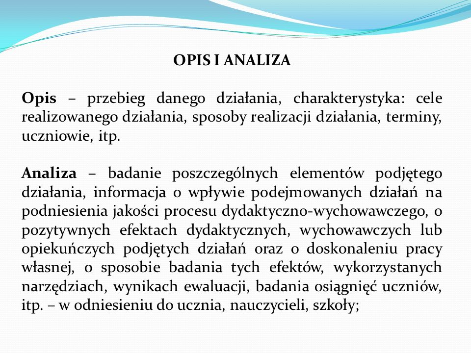 OPIS I ANALIZA