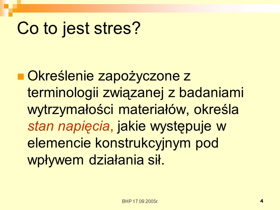 Co to jest stres
