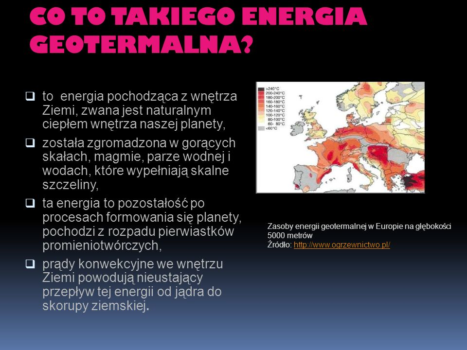 CO TO TAKIEGO ENERGIA GEOTERMALNA