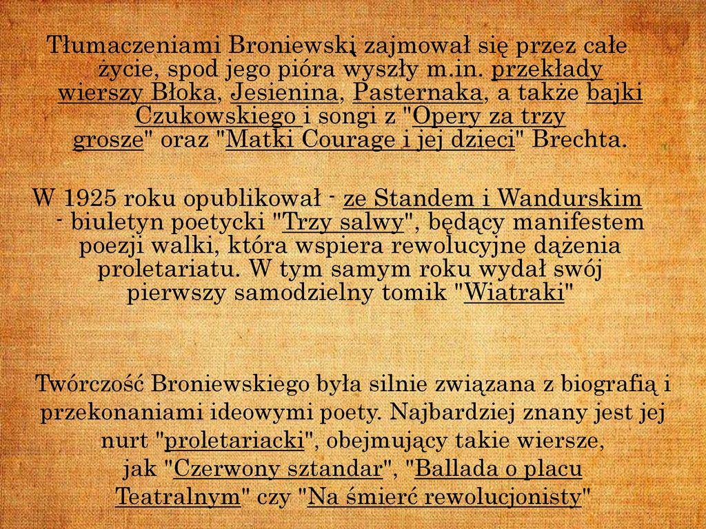 Mój Patron Władysław Broniewski Ppt Pobierz