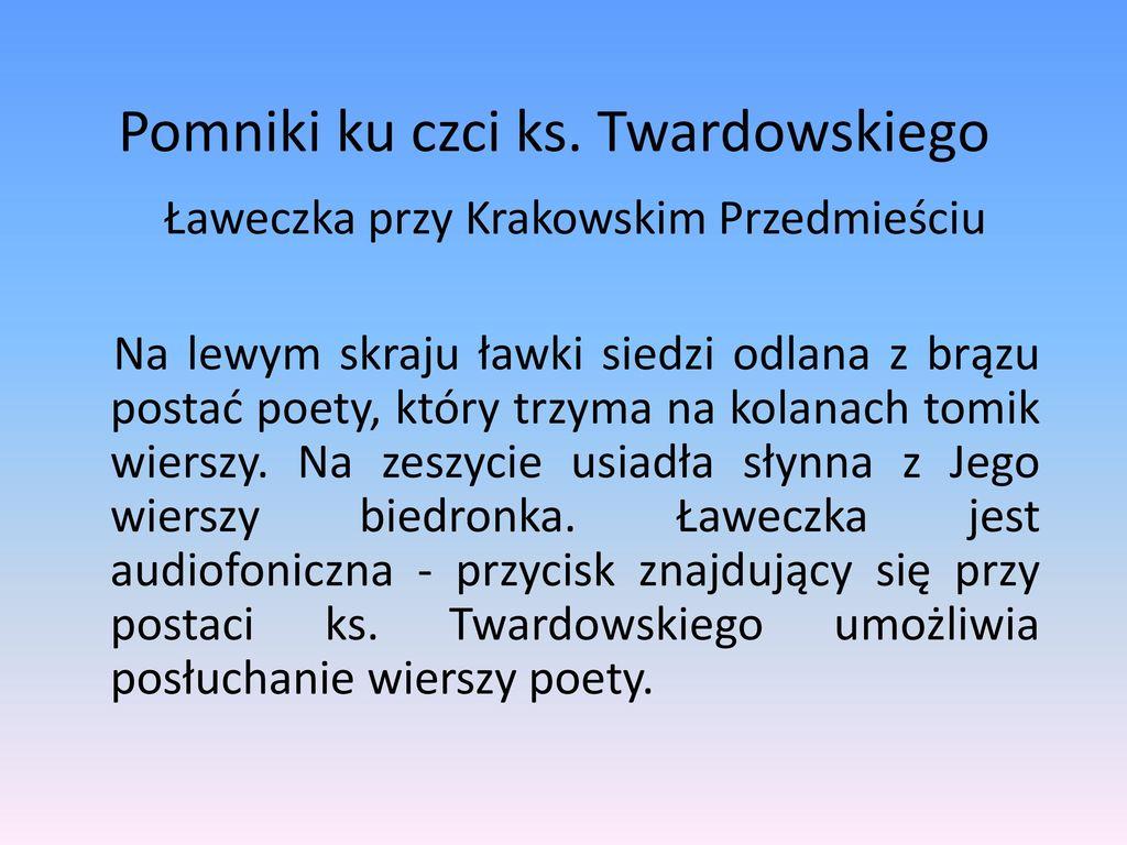 Jan Twardowski życie I Twórczość Ppt Pobierz