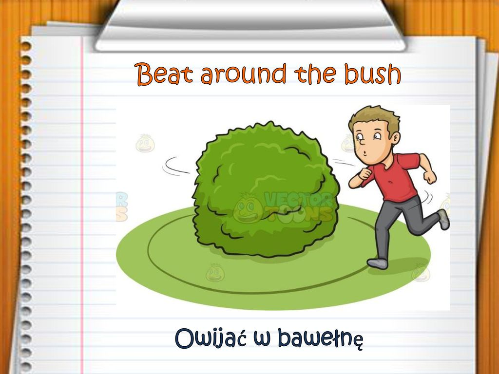 Beat around the bush Owijać w bawełnę