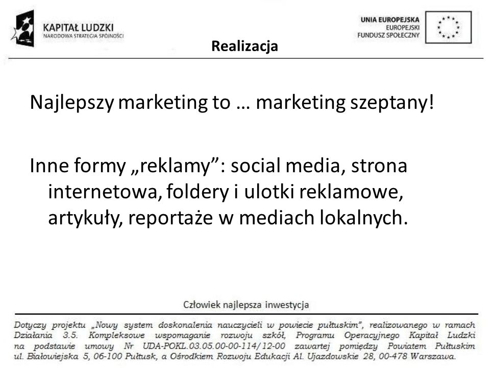 Najlepszy marketing to … marketing szeptany!