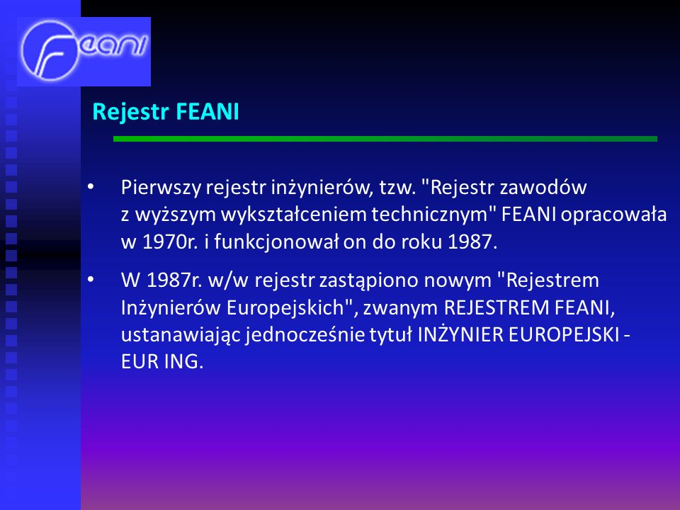 Rejestr FEANI