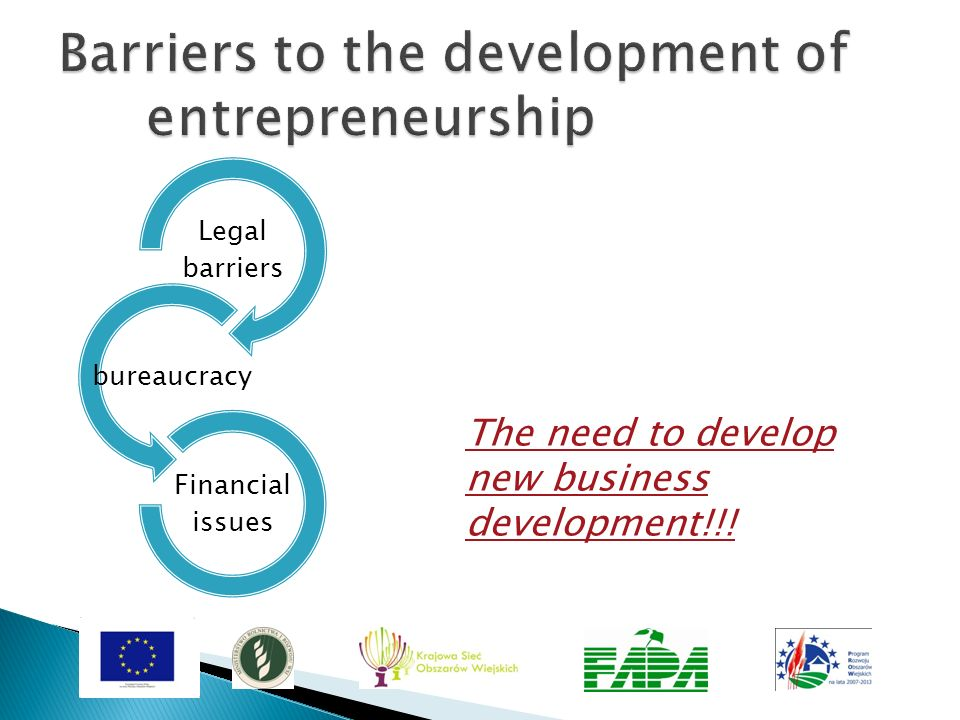 Barriers to the development of entrepreneurship