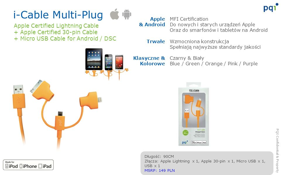 i-Cable Multi-Plug Apple Certified Lightning Cable
