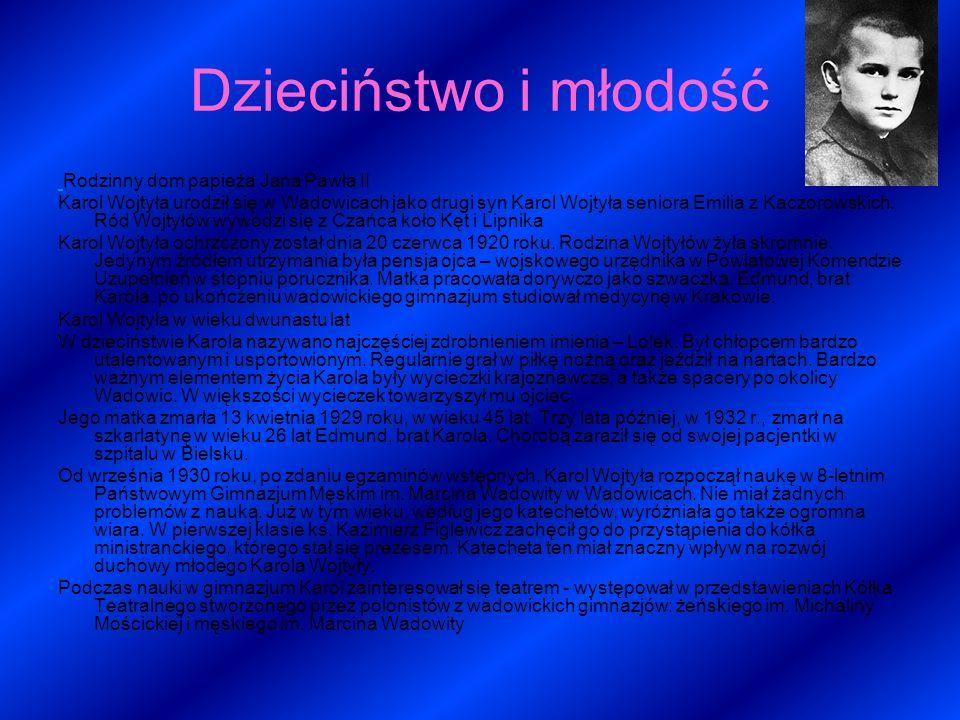 Jan Paweł Ii Biografia Ppt Video Online Pobierz