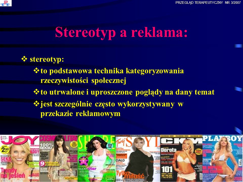 Stereotyp a reklama: stereotyp:
