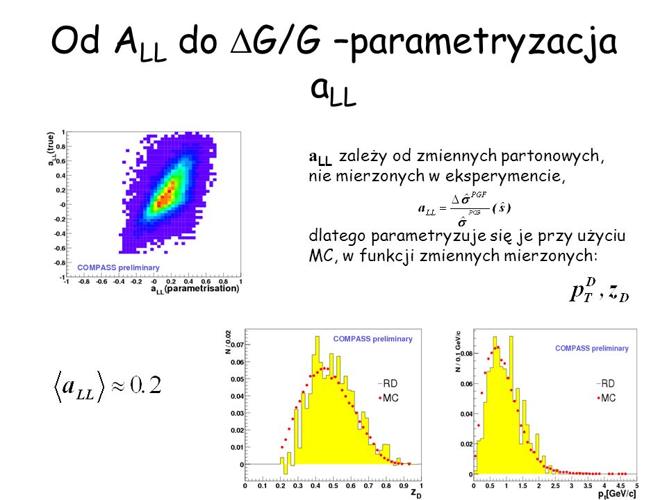 Od ALL do DG/G –parametryzacja aLL