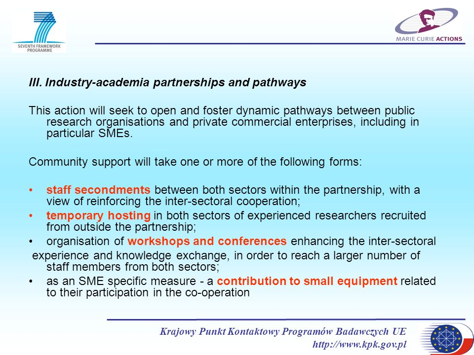 III. Industry-academia partnerships and pathways