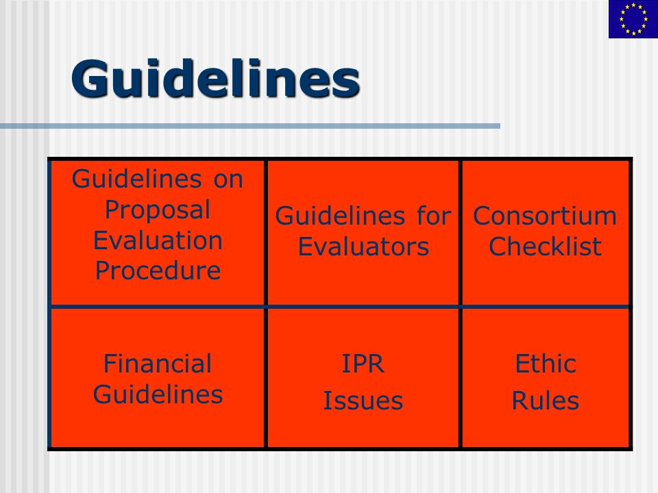 Guidelines Guidelines on Proposal Evaluation Procedure