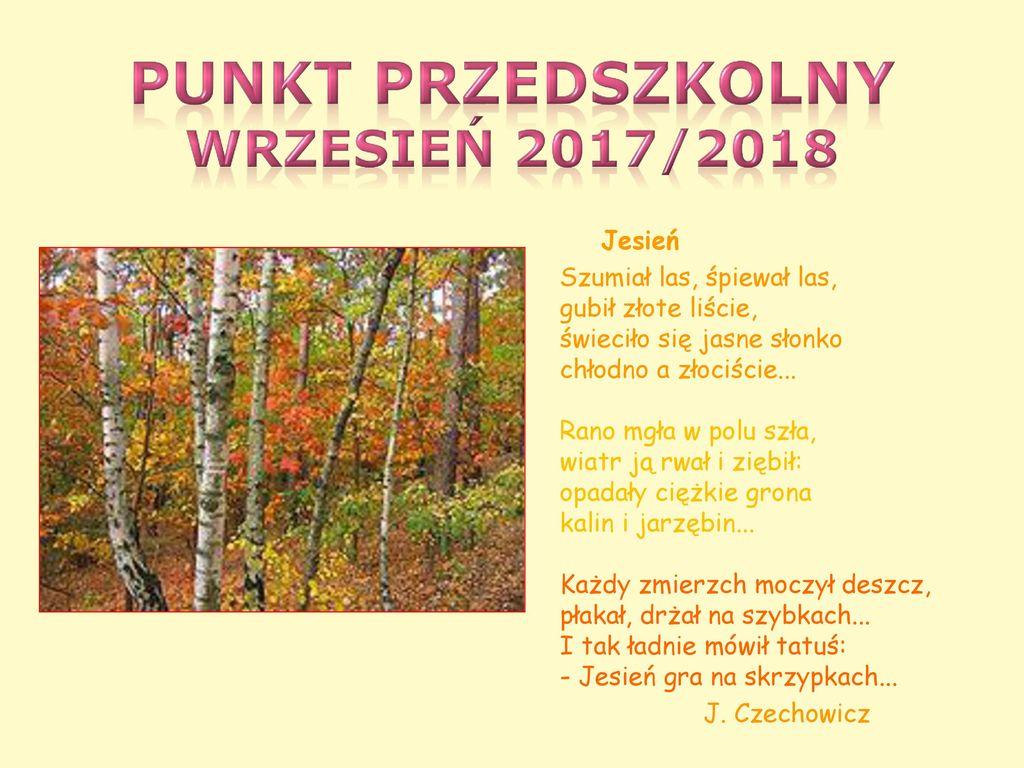 Punkt Przedszkolny Wrzesień 2017 Ppt Pobierz
