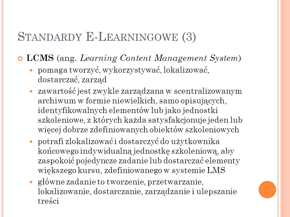 Standardy E-Learningowe (3)
