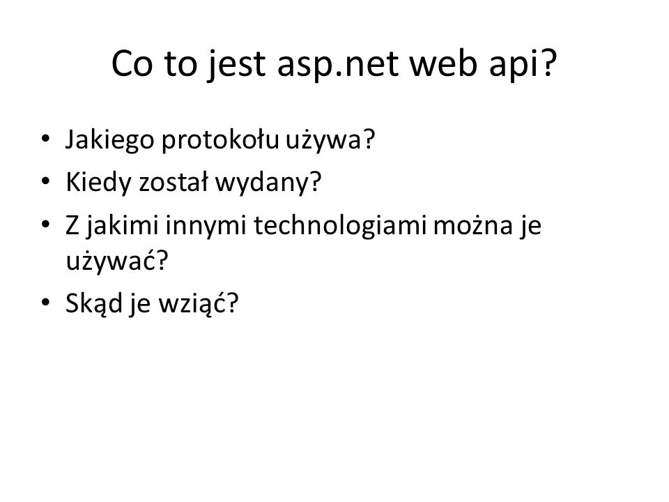 Co to jest asp.net web api