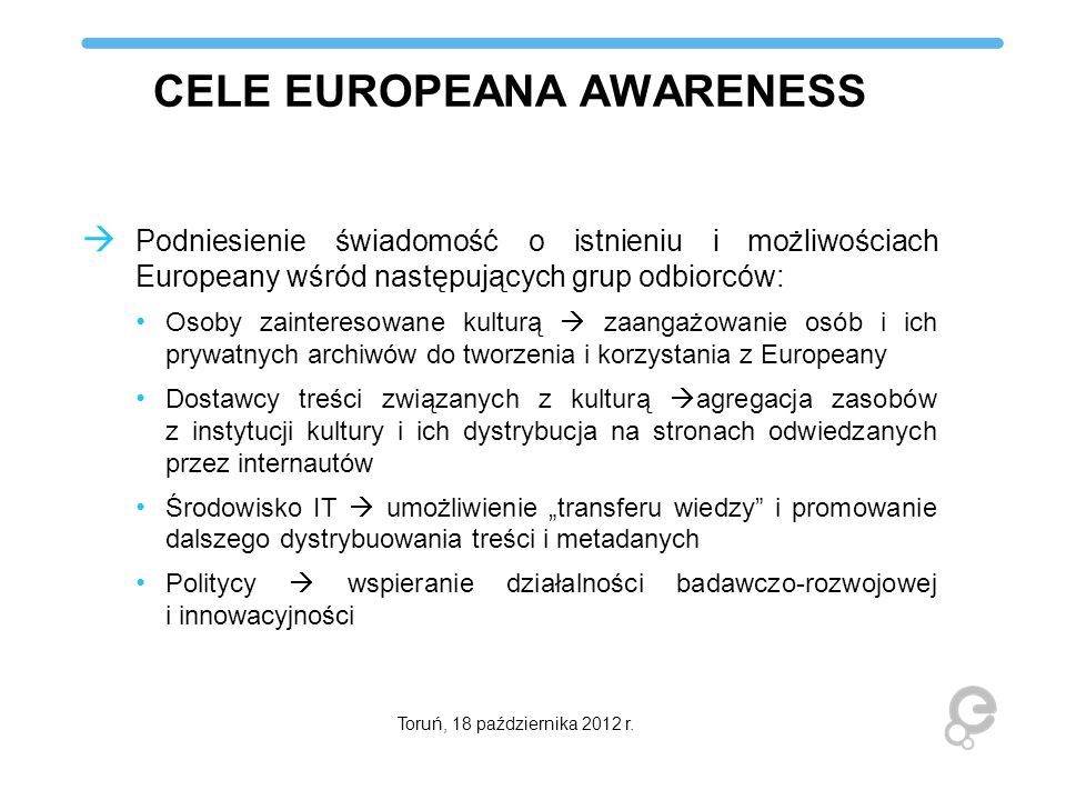 CELE EUROPEANA AWARENESS