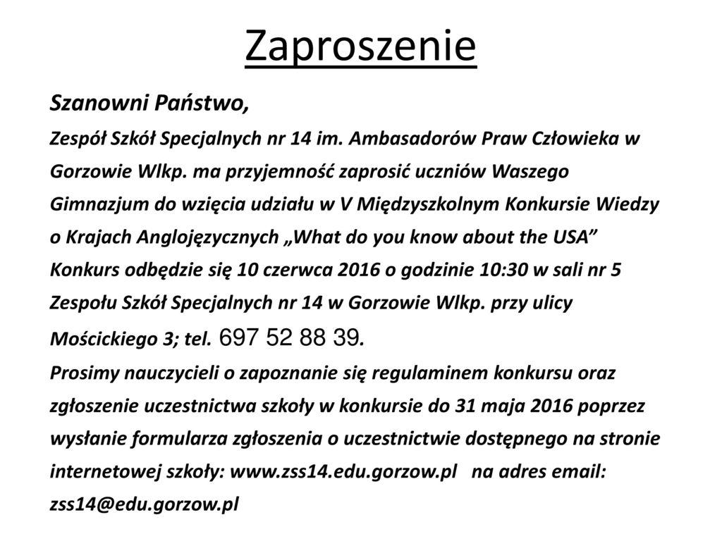 Zaproszenie Szanowni Państwo Ppt Pobierz