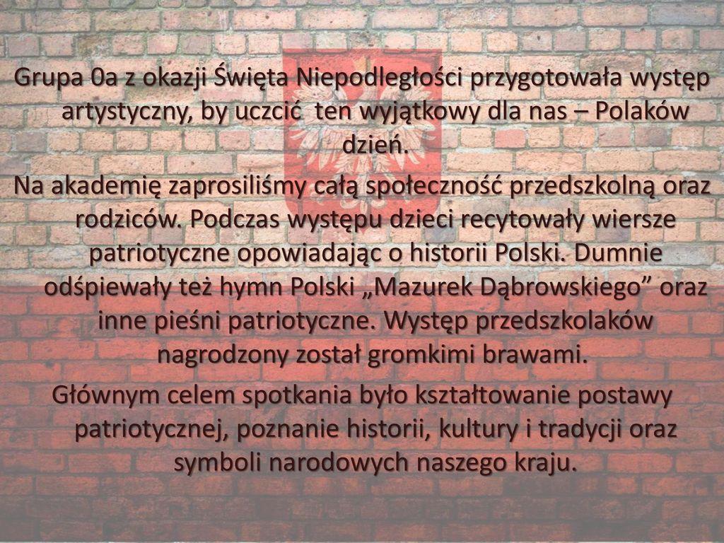Jesteśmy Polką I Polakiem święto Niepodległości W Grupie
