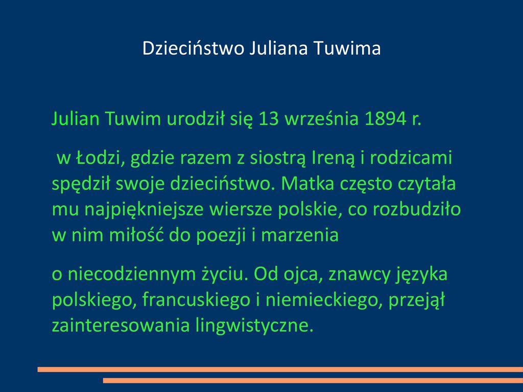Julian Tuwim Poeta Wszechczasów Ppt Pobierz