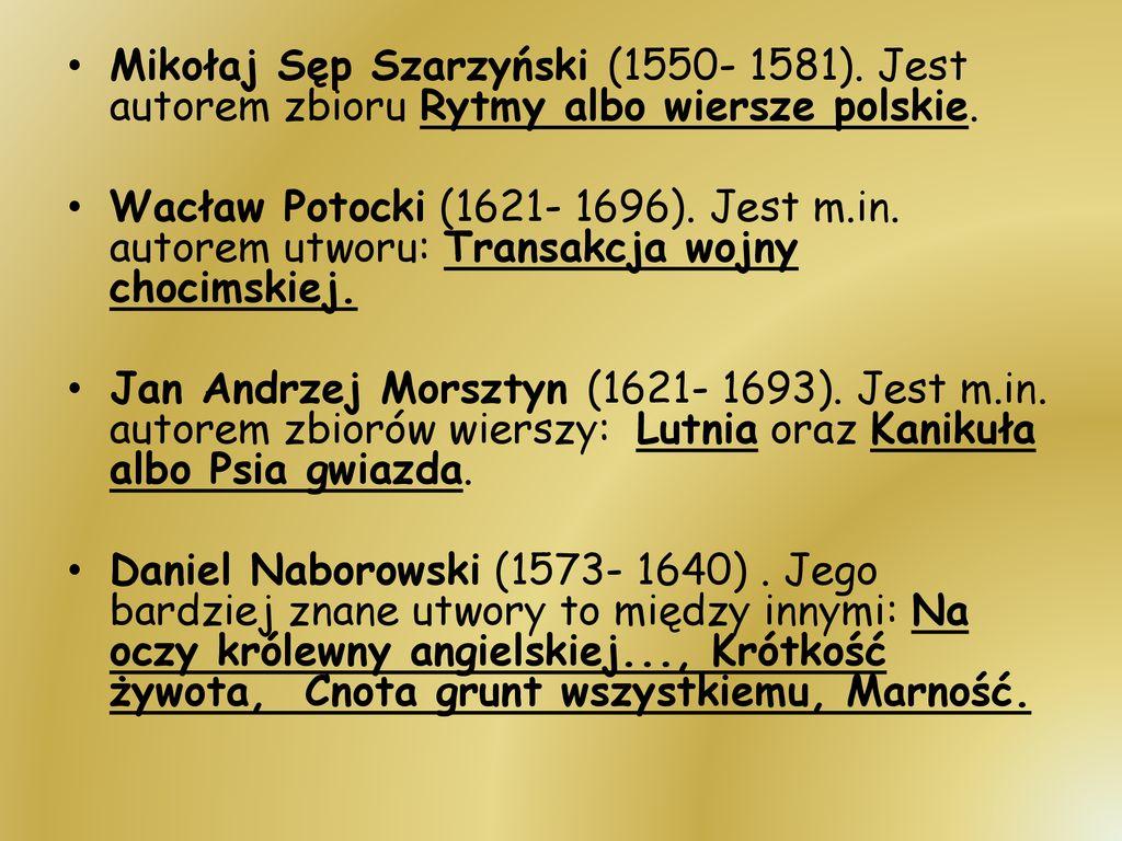 Najsławniejsi Polscy Pisarze I Poeci Ppt Pobierz