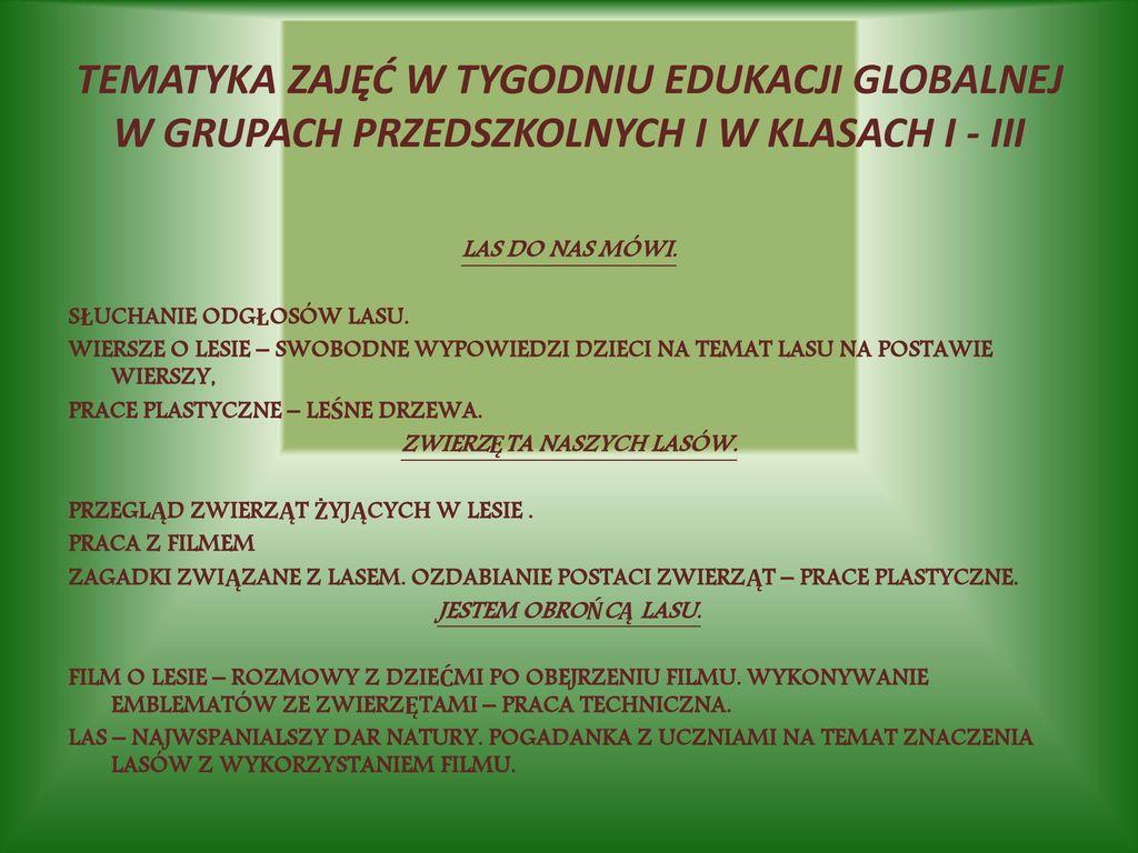 Edukacja Globalna Liderzy Edukacji Na Rzecz Rozwoju Ppt