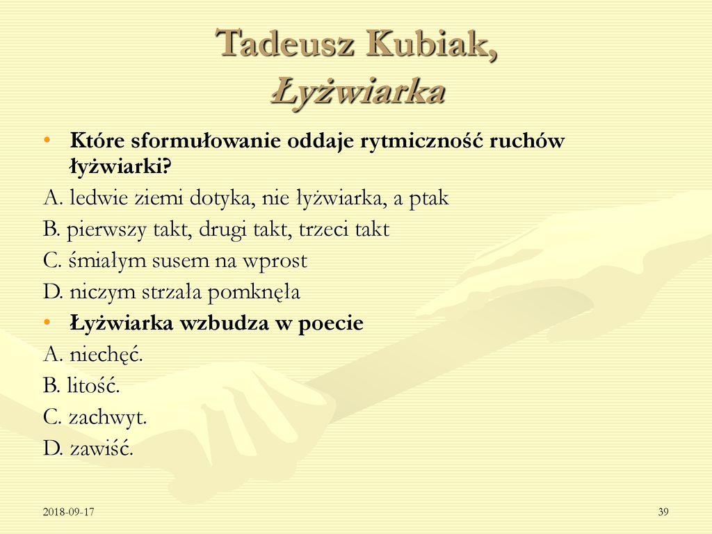 Tekst Poetycki Na Sprawdzianie Szóstoklasisty Ppt Pobierz