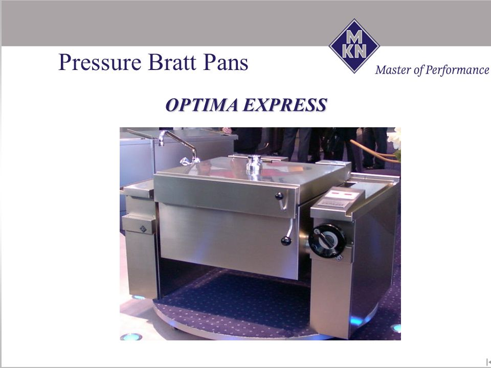 Pressure Bratt Pans OPTIMA EXPRESS ! NEW !